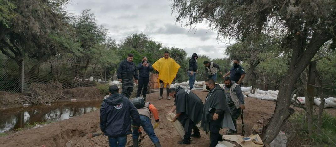 Monitorean puntos de riesgos por lluvias en Soledad